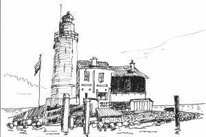 Vuurtoren bij Marken / Lighthouse